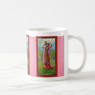 Mug Enfant vintage du jour de mère sur des épaules