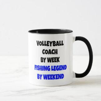 Mug Entraîneur de volleyball de légende de pêche
