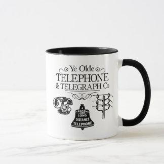 Mug Entreprise de téléphone vintage