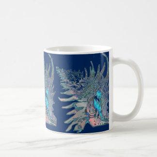 Mug Escargot Shell de roche de bleu marine