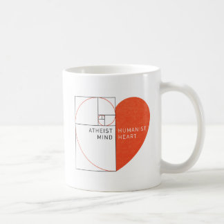 Mug Esprit athée, coeur d'humaniste