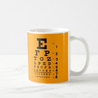 Mug Essai d'acuité visuelle : Rétro diagramme d'oeil