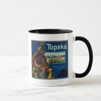 Mug Étiquette de caisse d'agrume de marque de Topeka