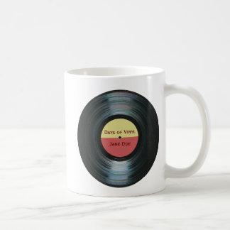 Mug Étiquette noir Drinkware de disque de musique de