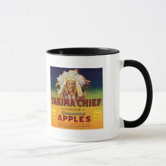 Mug Étiquette vintage de pommes en chef de Yakima