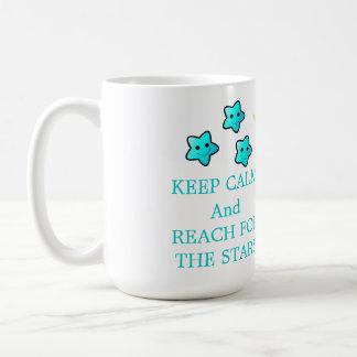 Mug Étoiles bleues avec dire