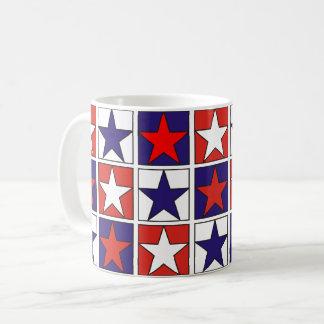 Mug Étoiles tricolores patriotiques