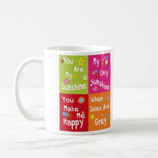 Mug Expressions de motivation de typographie - collage