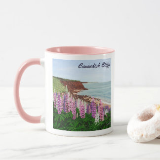 Mug Falaises de Cavendish et lupins de ressort, PEI