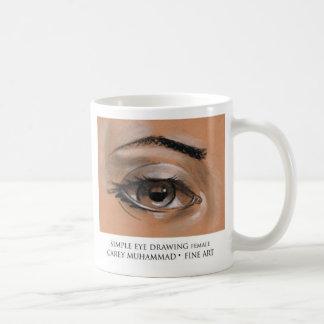 Mug Femelle de dessin d'oeil simple