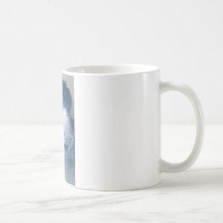Mug Femme vintage, bleu de photo