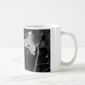 Mug feuille de noir et de blanc