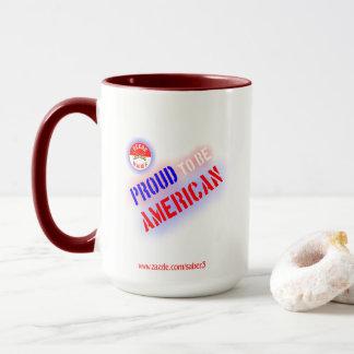 Mug Fier d'être américain