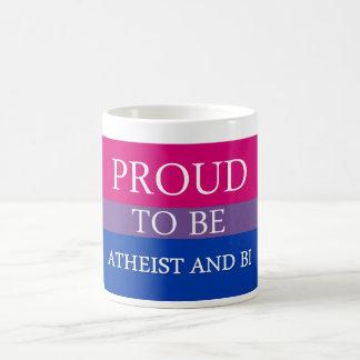 Mug Fier d'être athée et Bi