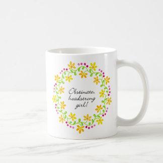 Mug Fierté et préjudice entêtés obstinés d'Austen de