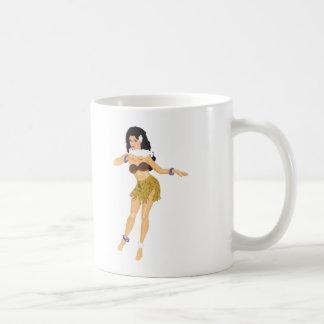 Mug Fille de danse polynésienne
