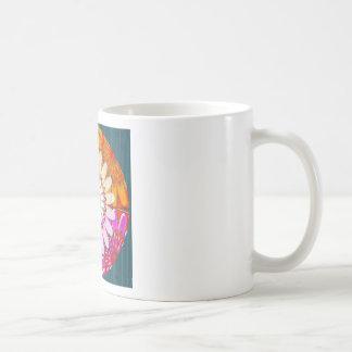 Mug fin colorée de chakra avec le blanc