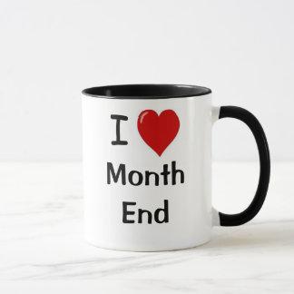 Mug Fin du mois drôle de citation de comptabilité de