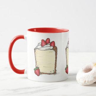 Mug Fin gourmet de dessert de fraises de tranche de