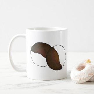 Mug Fin gourmet noir et blanc de biscuit de New York