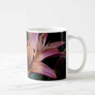 Mug Fin rose et orange de lis