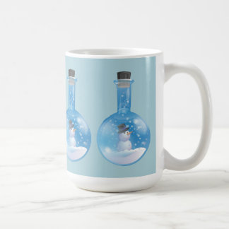 Mug Flacon de snowglobe de bonhomme de neige