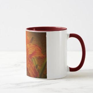 Mug Fleur avec la texture en cuir