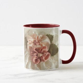 Mug Fleur de rose saumoné et de pêche