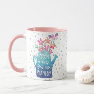 Mug Fleur où vous êtes plantés