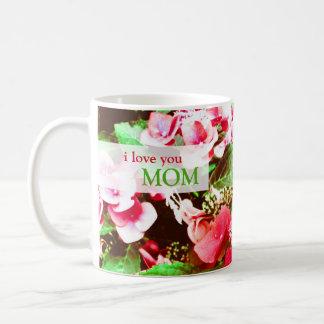 Mug Fleur rouge d'hortensia pour le jour de mères