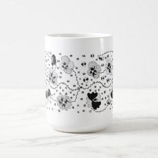 Mug Fleurs graphiques