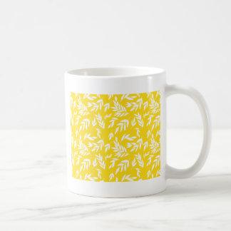 Mug Fleurs sur le jaune de miel