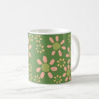 Mug Fleurs sur l'illustration verte