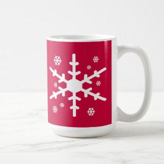 Mug Flocon de neige blanc pour le professeur