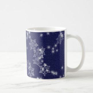 Mug Flocons de neige dans le ciel nocturne