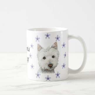 Mug Flocons de neige mignons d'art et de Noël de chien