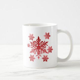Mug Flocons de neige rouges