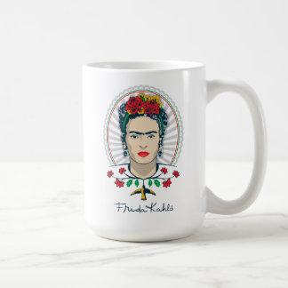 Mug Floral vintage de Frida Kahlo |