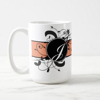 Mug Flourish de fantaisie personnalisé décoré d'un