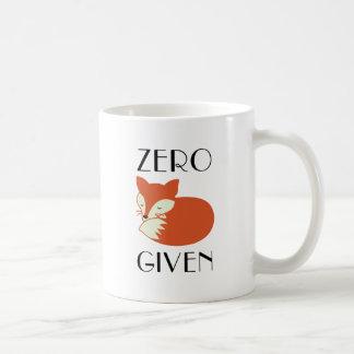Mug Fox zéro donné