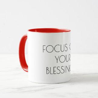 Mug Foyer sur vos bénédictions, motivation inspirée