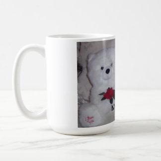 Mug Frise de Bichon avec l'ours de nounours blanc
