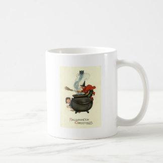 Mug Fumée de chaudron de chat noir de balai de