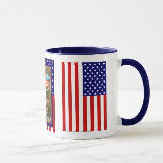 Mug Fusées et drapeau sur 4 juillet