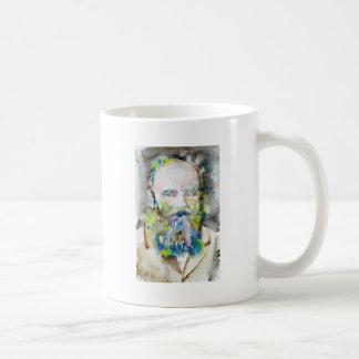 Mug fyodor dostoevsky - portrait d'aquarelle