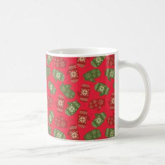 Mug Gants et flocons de neige de Noël sur l'arrière -