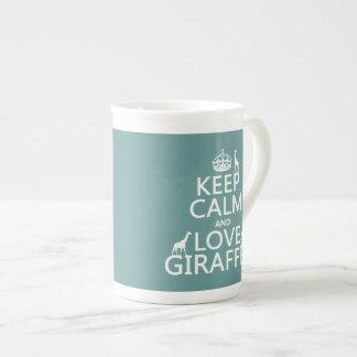 Mug Gardez le calme et aimez les girafes (toute