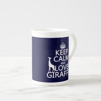 Mug Gardez le calme et aimez les girafes - toutes les