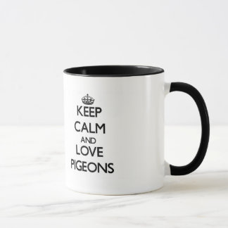 Mug Gardez le calme et aimez les pigeons