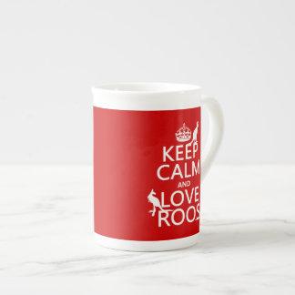 Mug Gardez le calme et aimez Roos (les kangourous)